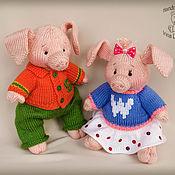 Куклы и игрушки ручной работы. Ярмарка Мастеров - ручная работа Вязаные поросята. Handmade.