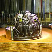 """Украшения handmade. Livemaster - original item Браслет """"Три обезьяны нового поколения"""". Handmade."""