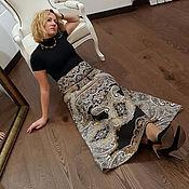 """Одежда ручной работы. Ярмарка Мастеров - ручная работа Нарядная юбка в пол """"Восточная сказка"""", длинная юбка из шерсти. Handmade."""