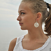 "Украшения handmade. Livemaster - original item Porcelain earrings ""Dandelions"". Handmade."