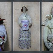 Куклы и игрушки ручной работы. Ярмарка Мастеров - ручная работа хранительницы ватных палочек и  дисков. Handmade.