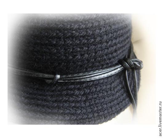 """Шляпы ручной работы. Ярмарка Мастеров - ручная работа. Купить Вязаная шляпка """"Клош"""". Handmade. Черный, головной убор, шерсть"""