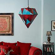 Для дома и интерьера handmade. Livemaster - original item Hanging stained glass geometric lamp Drop. Handmade.