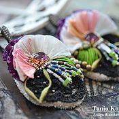 Украшения handmade. Livemaster - original item Purple Orchid Earrings