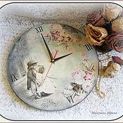 """Для дома и интерьера ручной работы. Ярмарка Мастеров - ручная работа Часы большие  """"Нежный поцелуй"""". Handmade."""
