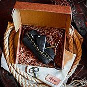 Ключницы ручной работы. Ярмарка Мастеров - ручная работа Ключница из натуральной кожи OLD SCHOOL цвет Черный Карбон. Handmade.