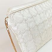 Сумки и аксессуары handmade. Livemaster - original item Pearl clutch bag, summer bag, cross body, wedding clutch (143). Handmade.