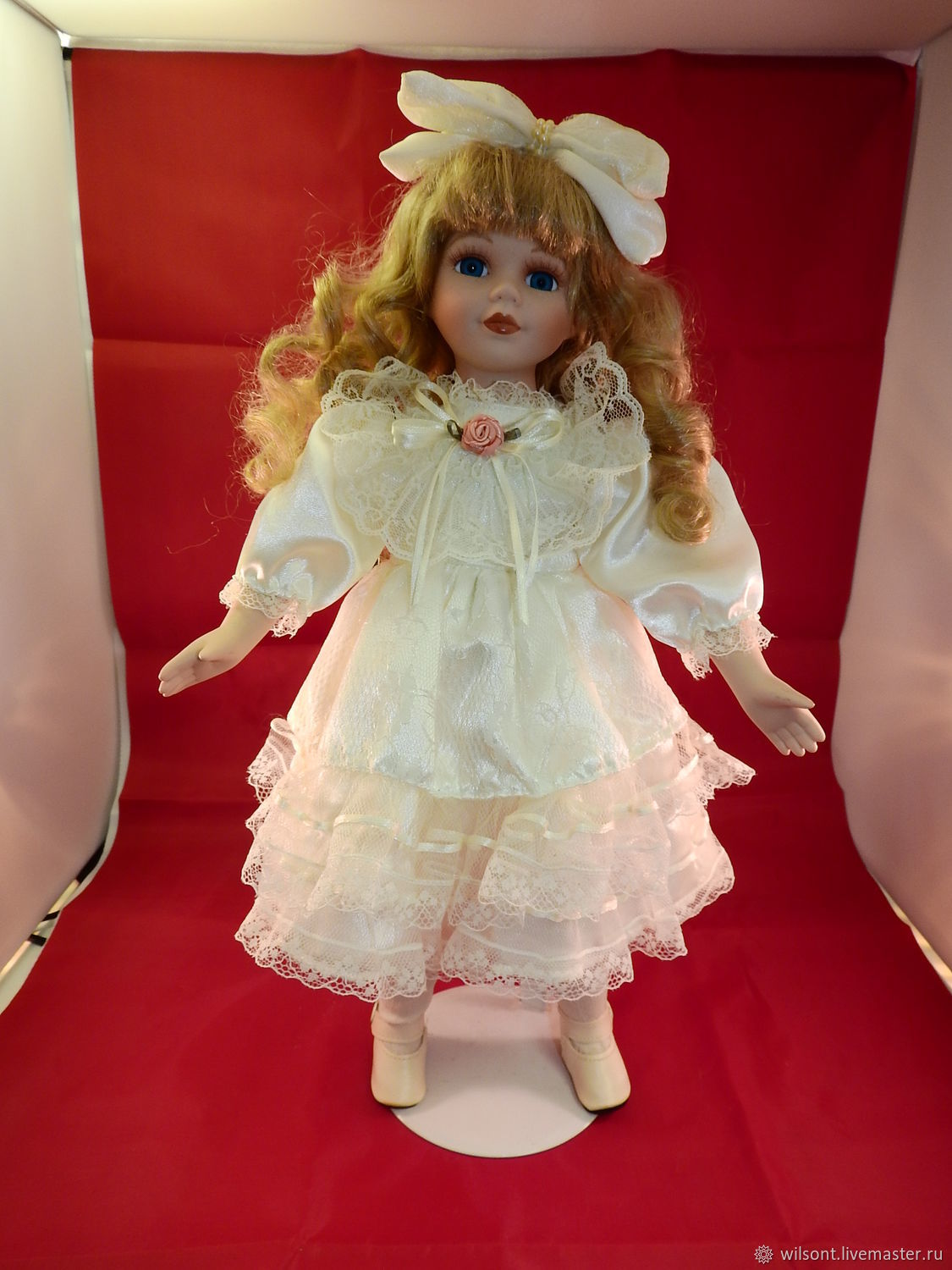 porcelain doll collection, Alberon in white, handmade, Vintage doll, Coventry,  Фото №1