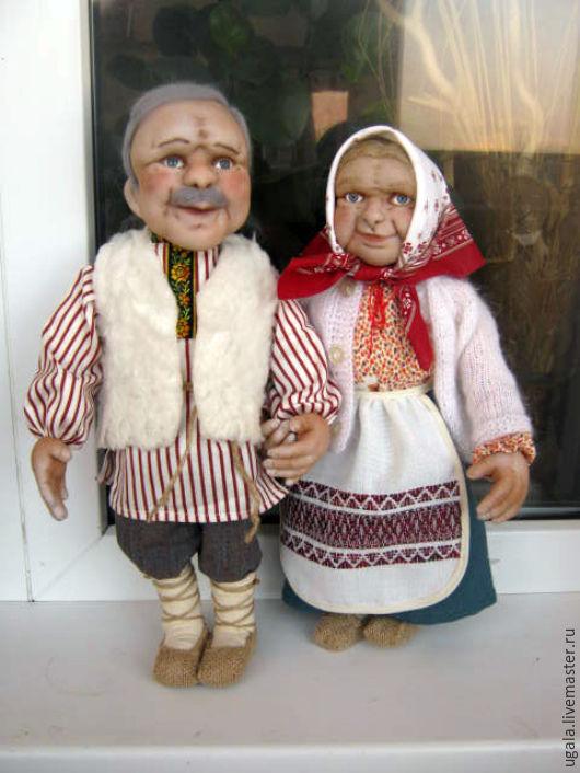 Коллекционные куклы ручной работы. Ярмарка Мастеров - ручная работа. Купить Бабушка и Дедушка. Handmade. Белый, старики, сказочные персонажи