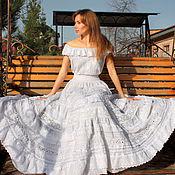 """Одежда ручной работы. Ярмарка Мастеров - ручная работа Шикарное платье """"White boho"""". Handmade."""