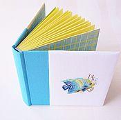 Блокноты ручной работы. Ярмарка Мастеров - ручная работа Блокнот ручной работы с вышивкой Рыбка. Handmade.