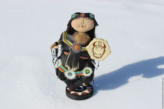 Коллекционные куклы ручной работы. Ярмарка Мастеров - ручная работа. Купить Шаман. Handmade. Кукла ручной работы, Север, замша