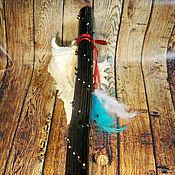 Музыкальные инструменты ручной работы. Ярмарка Мастеров - ручная работа Посох дождя ( Rainstick) (черный 80-85 см). Handmade.