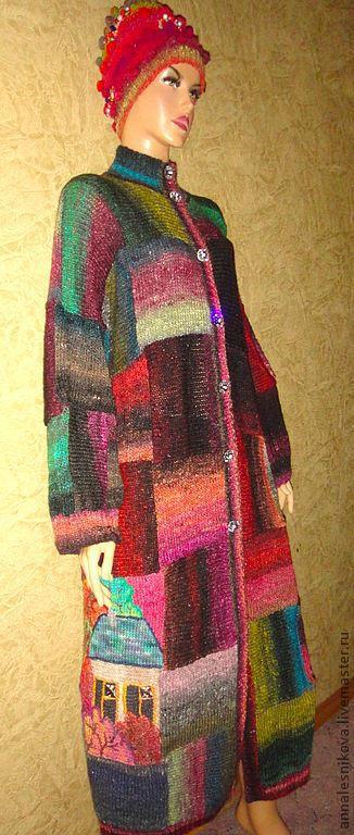 """Верхняя одежда ручной работы. Ярмарка Мастеров - ручная работа. Купить Пальто """"Домики"""" объемное, из Норо -2. Handmade. Пальто"""