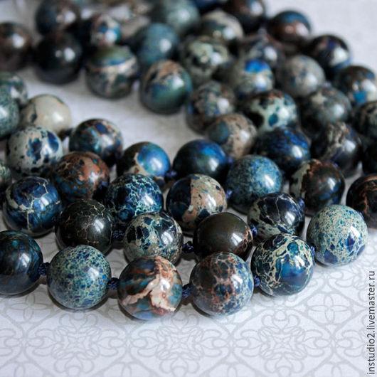 Для украшений ручной работы. Ярмарка Мастеров - ручная работа. Купить Варисцит синий 10 и 12 мм шар гладкий - бусины камни для украшений. Handmade.