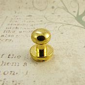 Кнопки ручной работы. Ярмарка Мастеров - ручная работа Кобурная кнопка 7058 золото 6мм. Handmade.