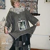 Одежда ручной работы. Ярмарка Мастеров - ручная работа туника -Серое кружево. Handmade.
