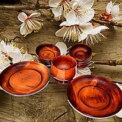 Набор деревянной посуды из натурального сибирского Кедра Тарелки #TN24
