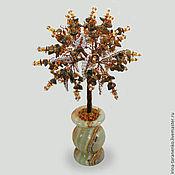Цветы и флористика handmade. Livemaster - original item Tree from the tiger`s eyes