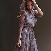 Одежда ручной работы. Ярмарка Мастеров - ручная работа Кружевное Платье цвета пыльной розы. Handmade.