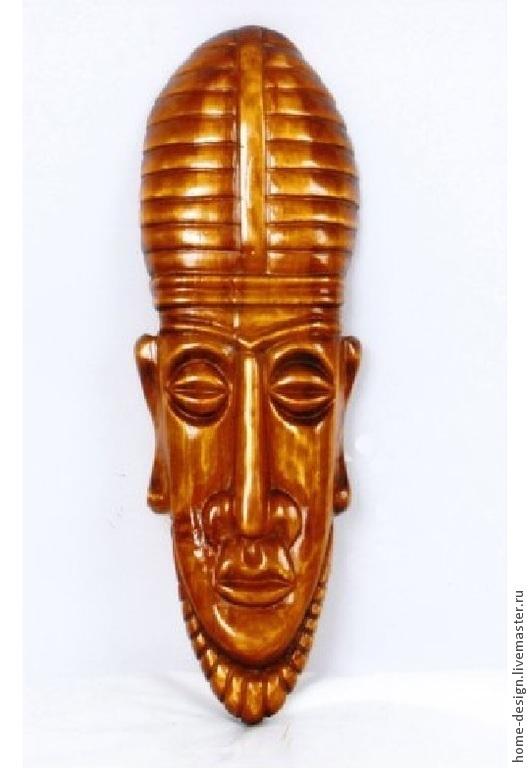 Интерьерные  маски ручной работы. Ярмарка Мастеров - ручная работа. Купить маска воина. Handmade. Коричневый, деревянная, маска