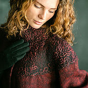 Одежда handmade. Livemaster - original item coat burgundy