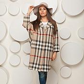 Одежда handmade. Livemaster - original item Woolen coat oversized plaid AMODAY. Handmade.