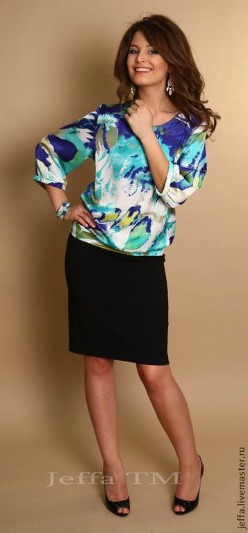 Платья ручной работы. Ярмарка Мастеров - ручная работа. Купить Платье Цвета океана арт.5284. Handmade. Разноцветный