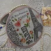 """Для дома и интерьера ручной работы. Ярмарка Мастеров - ручная работа """"Париж Весной"""" зеркало дамское. Handmade."""