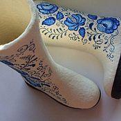 """Обувь ручной работы. Ярмарка Мастеров - ручная работа Валенки  """"Гжель"""". Handmade."""