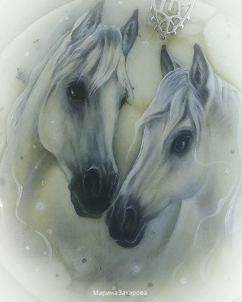 Кулоны, подвески ручной работы. Ярмарка Мастеров - ручная работа. Купить Кулон НЕЖНОСТЬ (пара лошадей, кони, лошадь). Handmade.
