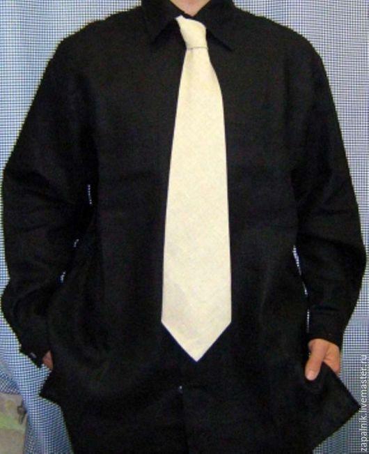 Для мужчин, ручной работы. Ярмарка Мастеров - ручная работа. Купить Льняная мужская рубашка.. Handmade. Рубашка, Мужская рубашка
