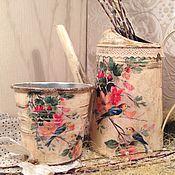 """Цветы и флористика ручной работы. Ярмарка Мастеров - ручная работа Лейка и кашпо """"Птиченька"""". Handmade."""