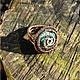 """Кольца ручной работы. Ярмарка Мастеров - ручная работа. Купить Перстень """"Спираль"""". Handmade. Бирюзовый, ажурный перстень, медь патинированная"""