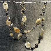 Украшения handmade. Livemaster - original item Long necklace bamboo agate. Handmade.