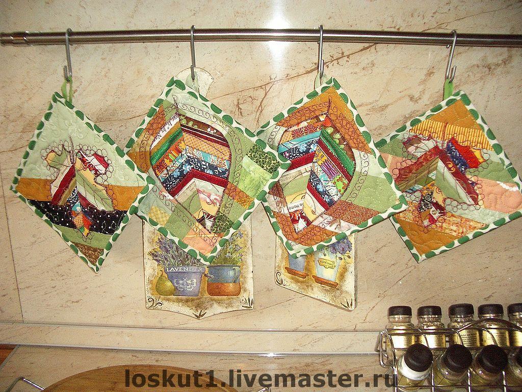 Прихватки пэчворк кленовый лист