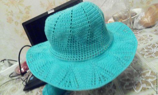 Шляпы ручной работы. Ярмарка Мастеров - ручная работа. Купить Летняя шляпа. Handmade. Шапочка на лето, шляпа крючком, шляпа