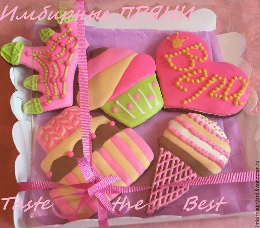 Кулинарные сувениры ручной работы. Ярмарка Мастеров - ручная работа. Купить Подарочный набор для девочки. Handmade. Разноцветный, торт, пряник
