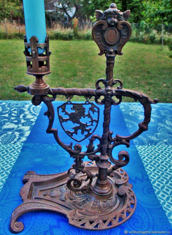Винтаж: Старинный подсвечник Blason et ange XIX век Франция, Предметы интерьера винтажные, Орлеан,  Фото №1