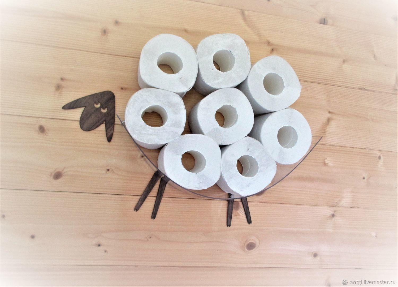 Мини Овца - Декоративная полка для туалетной бумаги Цвет № 3