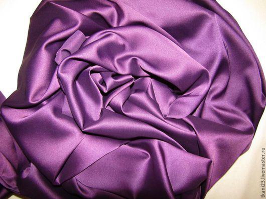 Шитье ручной работы. Ярмарка Мастеров - ручная работа. Купить Атлас шелк арт.14 АТШ-25 (Корея) фиолетовый. Handmade.