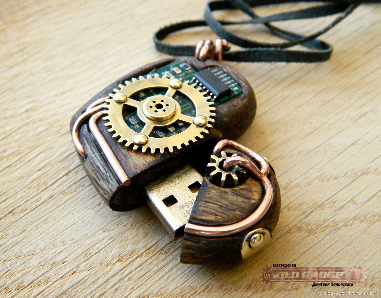 Wooden pendant usb flash drive shop online on livemaster with wooden pendant usb flash drive oldgadget oldgadget aloadofball Choice Image