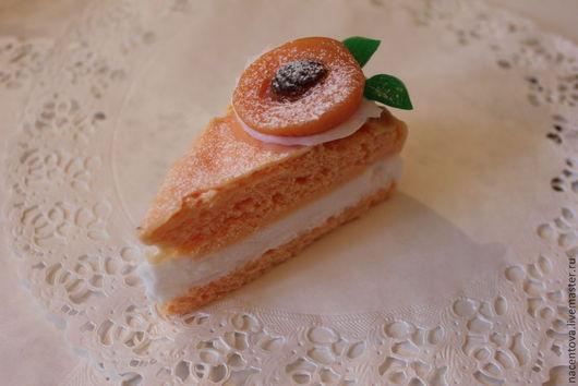 """Мыло ручной работы. Ярмарка Мастеров - ручная работа. Купить Мыло """"Персиковый тортик"""". Handmade. Разноцветный, персиковое мыло, мыло"""