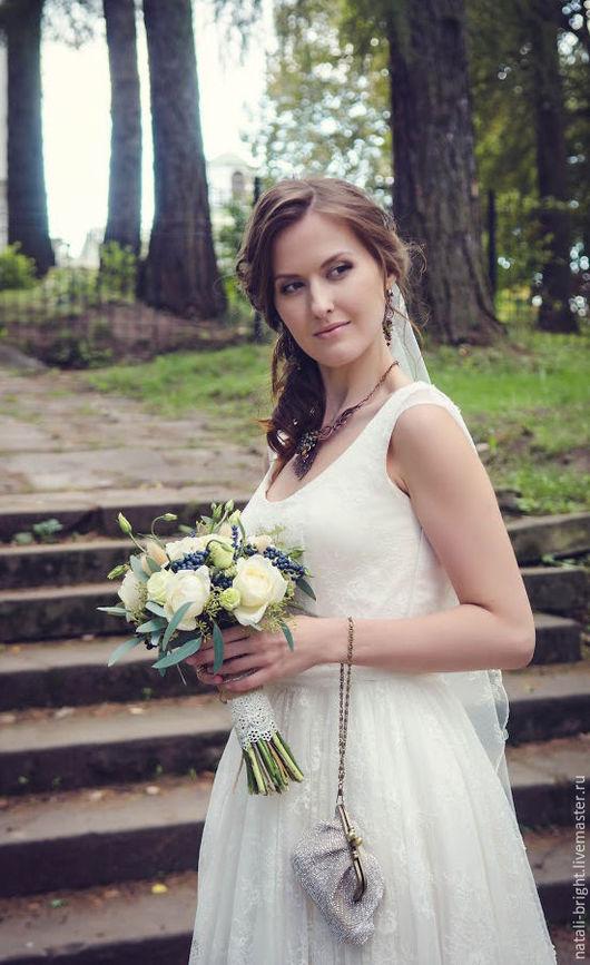 Букет невесты из живых цветов Rose Garden