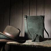 Классическая сумка ручной работы. Ярмарка Мастеров - ручная работа Сумка Тоскана зеленая. Handmade.