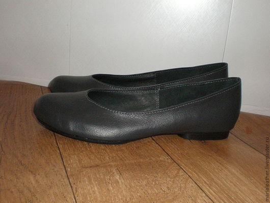 Обувь ручной работы. Ярмарка Мастеров - ручная работа. Купить Балетки серые. Handmade. Серый, балетки из кожи, кожа натуральная