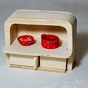 Куклы и игрушки handmade. Livemaster - original item Kitchen Cabinet (sylvanian families) - 4. Handmade.