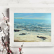 Картины и панно handmade. Livemaster - original item Oil painting. Sea. Seascape Spain.. Handmade.
