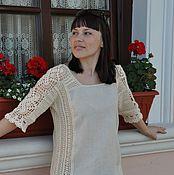 Одежда handmade. Livemaster - original item Tunic crocheted cotton silk