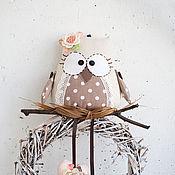 Для дома и интерьера ручной работы. Ярмарка Мастеров - ручная работа Совушка в горошек для детской комнаты, интерьер детской. Handmade.